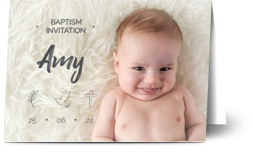 Baptism Invitations Personalized Baptism Cards From