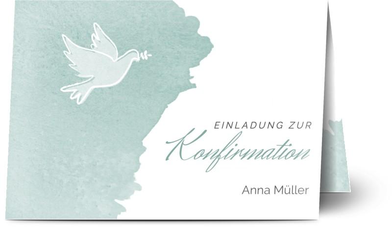 konfirmationskarten selber gestalten - einladungskarten