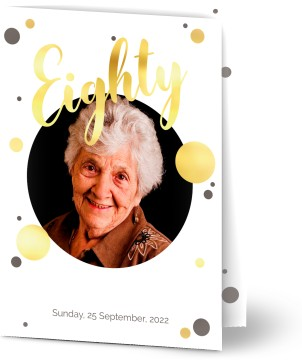 Customized 80th Birthday Invitations