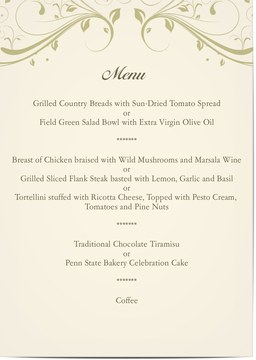 View All Menu Card For Weddings And Parties