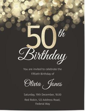 Customized 50th Birthday Invitations Optimalprint