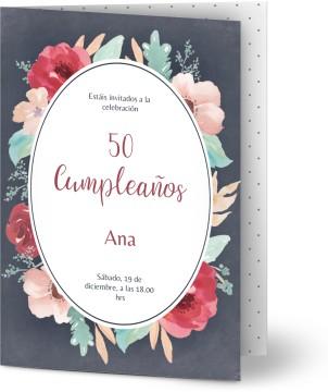 Invitaciones De Cumpleaños 50 Personalizadas Optimalprint