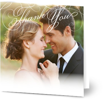 With Photo Wedding Thank You Cards