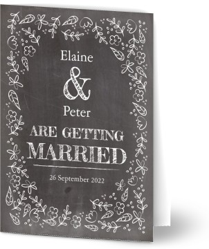 50 Off Chalkboard Wedding Invitations Optimalprint