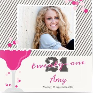 Birthday invitations personalised by you create your own 21st birthday filmwisefo Gallery