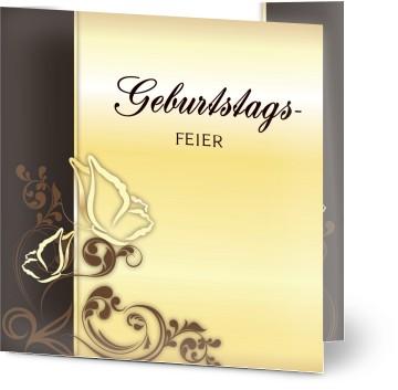 Einladung Geburtstag Elegante Goldene Schmetterlinge Einladungskarten Geburtstag