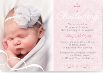 Christening invitations christening cards personalised invites girl personalised christening invitations stopboris Gallery