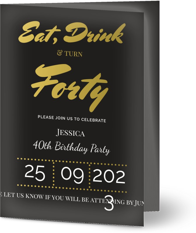See All Personalised 40th Birthday Invitations
