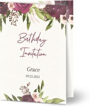 Classic And Elegant Customized 80th Birthday Invitations
