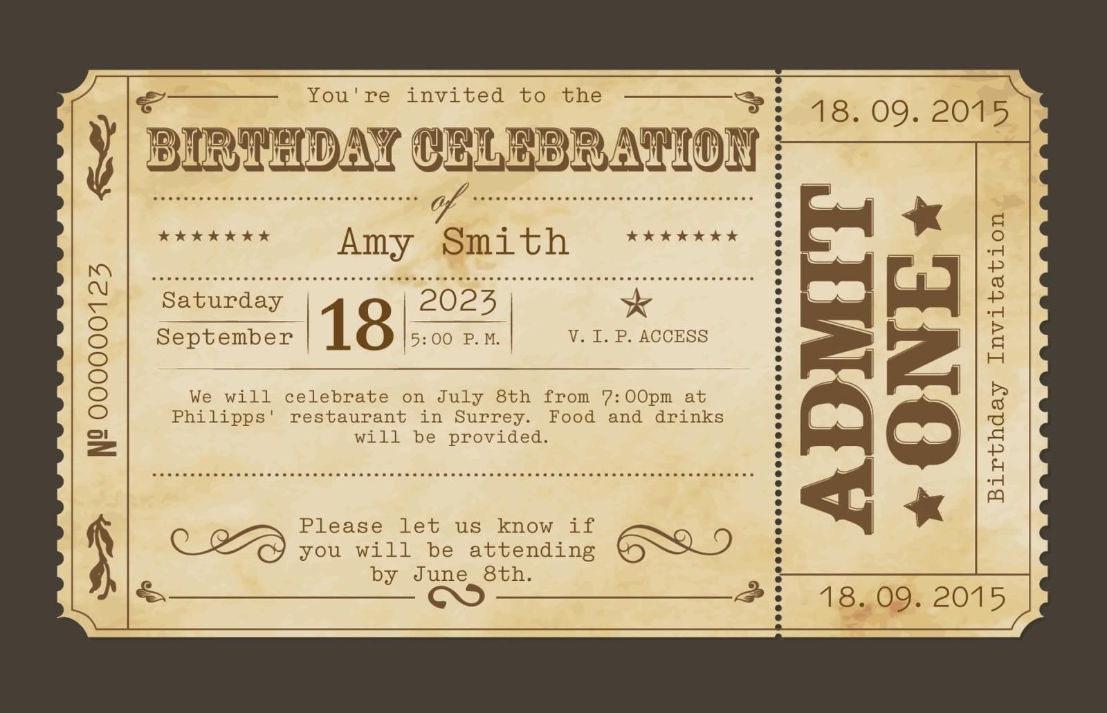 Personalised 60th Birthday Invitations