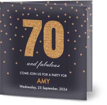 Customized 70th birthday invitations optimalprint 7 formats filmwisefo