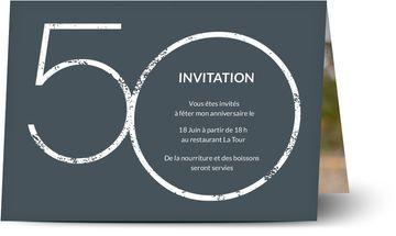 Carte Invitation Pour Anniversaire 50 Invitations D Anniversaire 50 Personnalisees Optimalprint