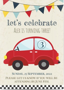 Birthday Invites With Trains Plains Or Cars Personalised By You