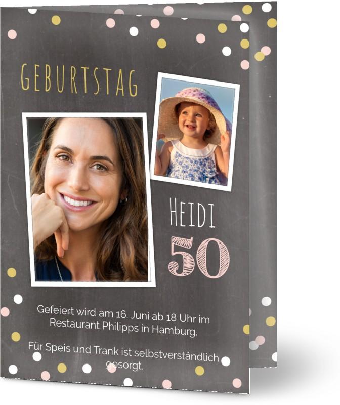 einladungskarten 50 geburtstag - einladungskarten zum 50