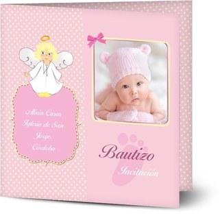 invitaciones de bautizo de niña personalizadas con tus fotos en