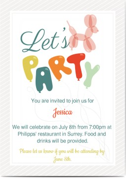 Birthday invitations personalized by you create your own kids kids birthday invitations stopboris Images