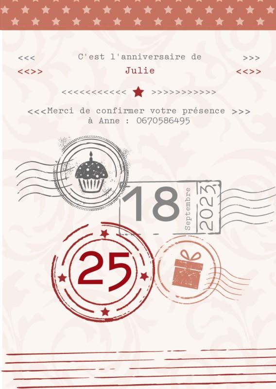 Invitations d'anniversaire personnalisées   Optimalprint