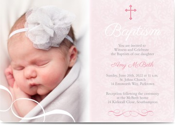 Baptism Invitations Baptism Cards Personalized Invites