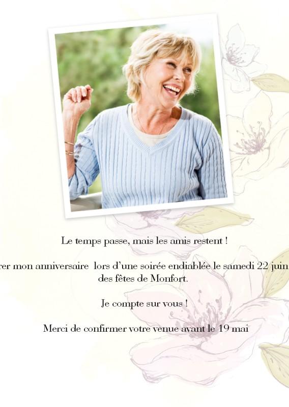 Invitations d'anniversaire 60 personnalisées   Optimalprint
