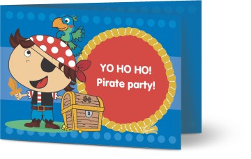 pirate invitations for your kids pirate party personalised by you