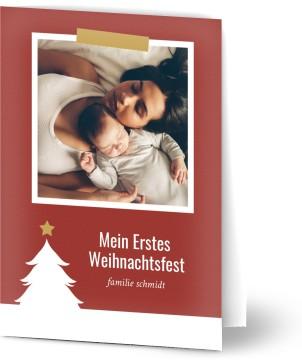Weihnachtskarten Deutschland.Weihnachtskarten Mit Foto Erste Weihnachten Optimalprint Deutschland