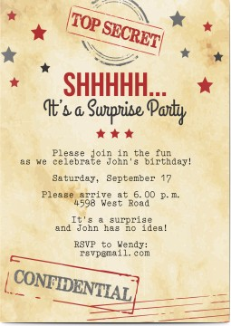 Invitations personalized we print your party invitations and surprise party stopboris Images