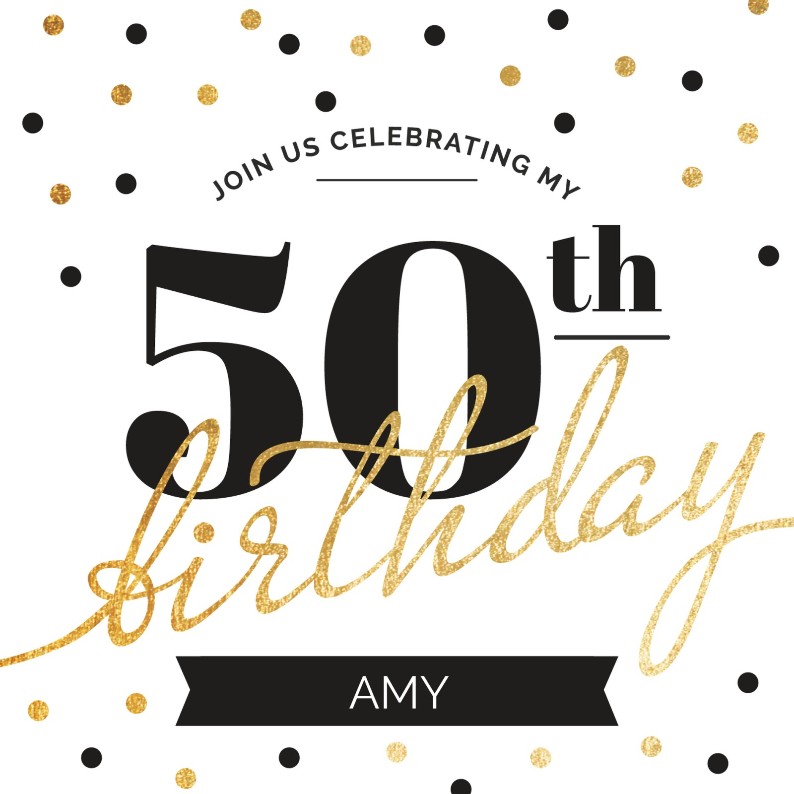 See All Personalised 50th Birthday Invitations