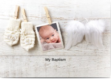 girl s baptism invitations personalized w photos by you