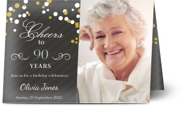 Customized 90th Birthday Invitations – Optimalprint
