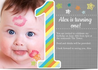Kids party invitations personalised invitations for kids birthdays 1 year old 1 year old kids birthday party invitations stopboris Gallery