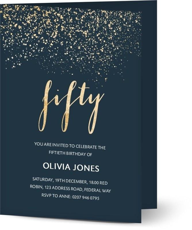 See All Personalised 50th Birthday Invitations