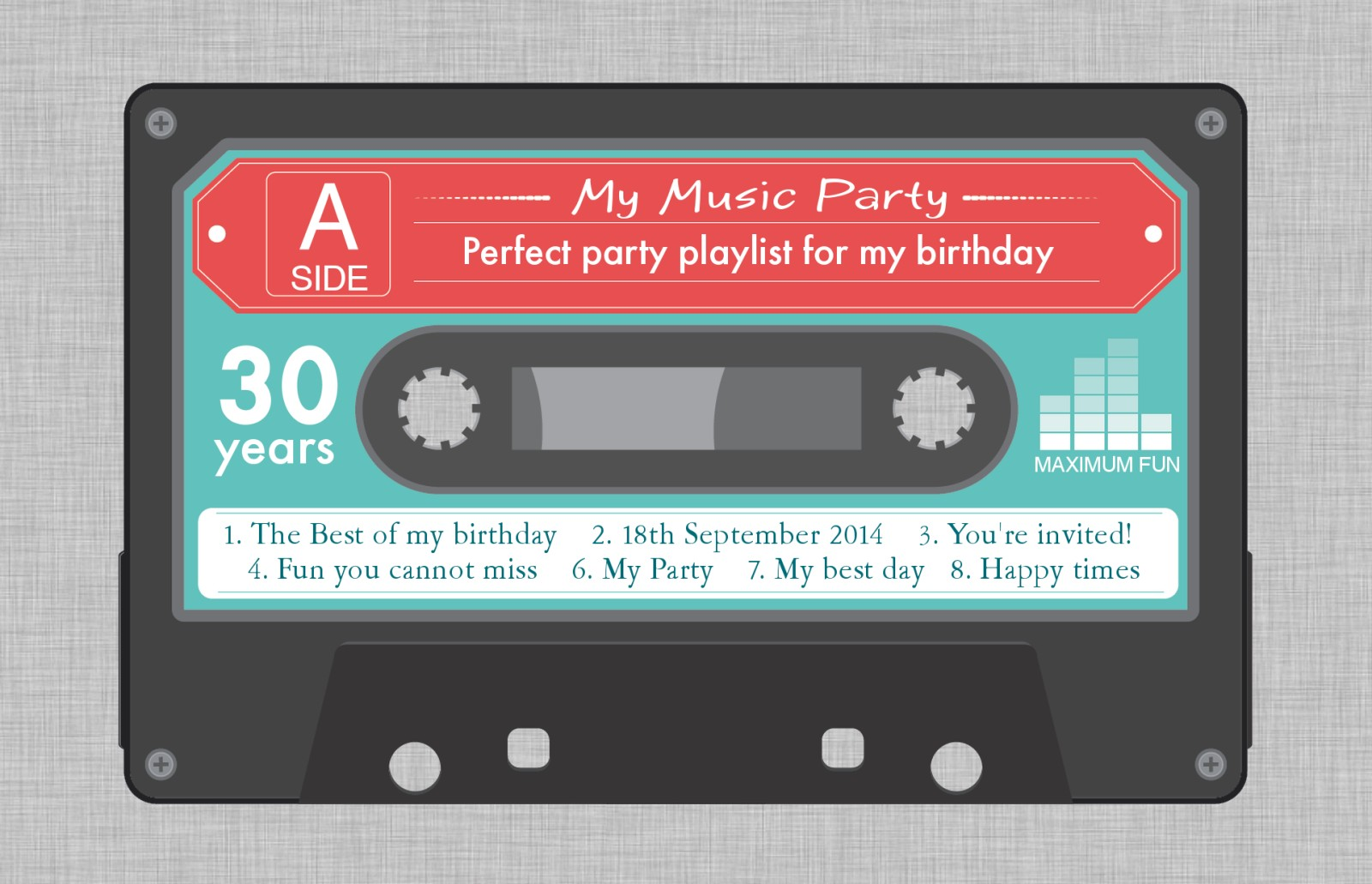Personalised 30th Birthday Invitations