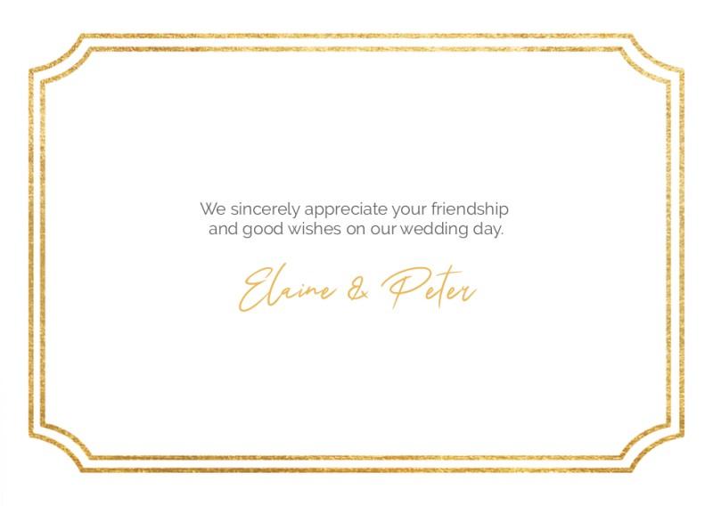 Wedding Thank You Cards With Photo Optimalprint