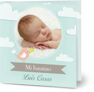 tarjetas de bautizo con foto personalizadas por ti e impresas en