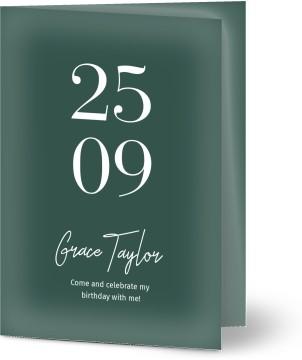 Modern And Minimalistic Customized 70th Birthday Invitations