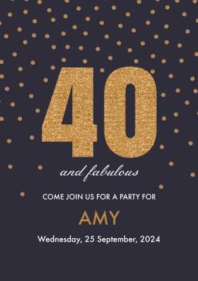 personalised 40th birthday invitations optimalprint