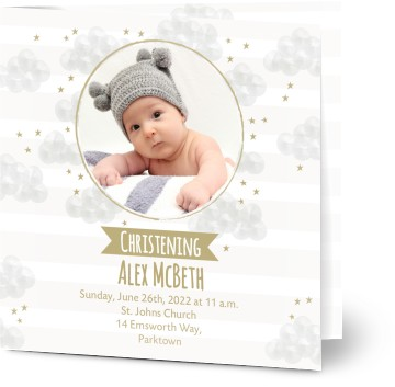 Christening invitations christening cards personalised invites view all personalised christening invitations stopboris Images