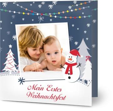 weihnachtskarten mit foto erste weihnachten. Black Bedroom Furniture Sets. Home Design Ideas