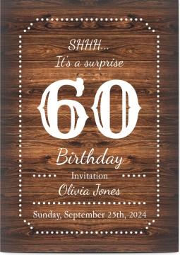 Customized Surprise 60th Birthday Invitations