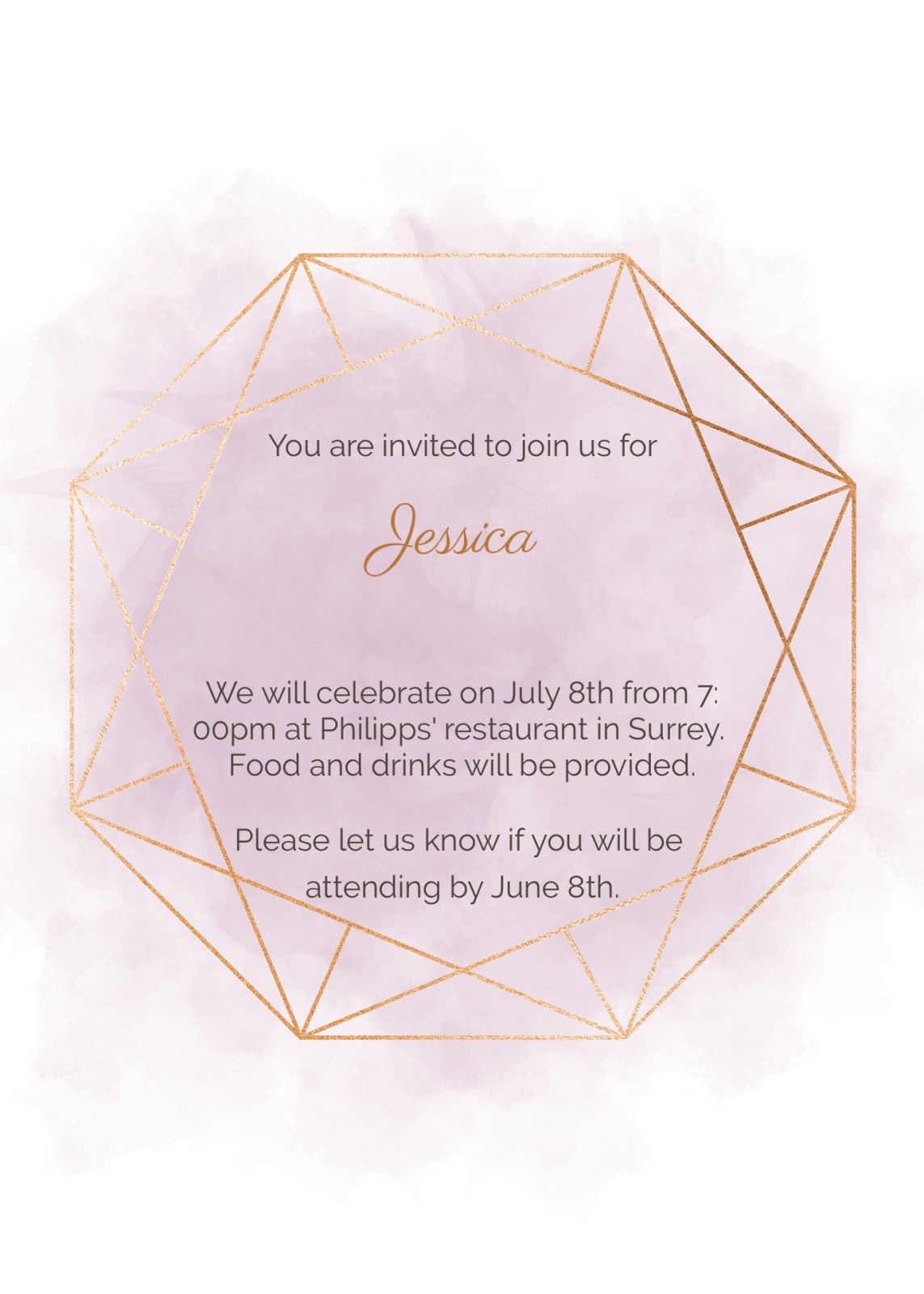 Birthday Invitation Geometric Geode