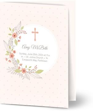 personalized photo baptism invitations created online optimalprint