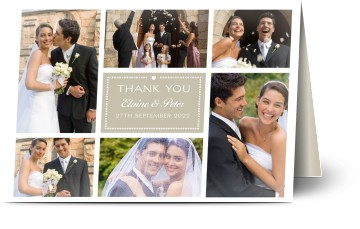 Wedding thank you cards w photos 48hr delivery optimalprint uk 7 formats junglespirit Image collections