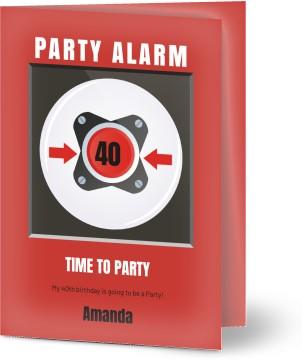 Customized Funny 40th Birthday Invitations