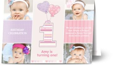 Kids party invitations personalised invitations for kids 1 year old kids birthday party invitations filmwisefo