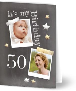 Einladung Geburtstag Tafel Mit Goldenen Sternen Einladungskarten Geburtstag