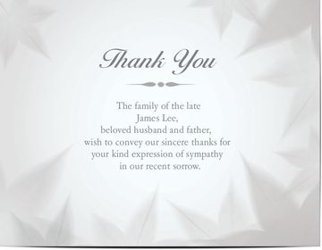 funeral thank you cards personalised w your message photos