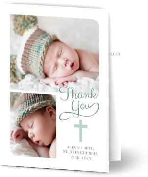 Photo Baptism Thank You Cards Optimalprint