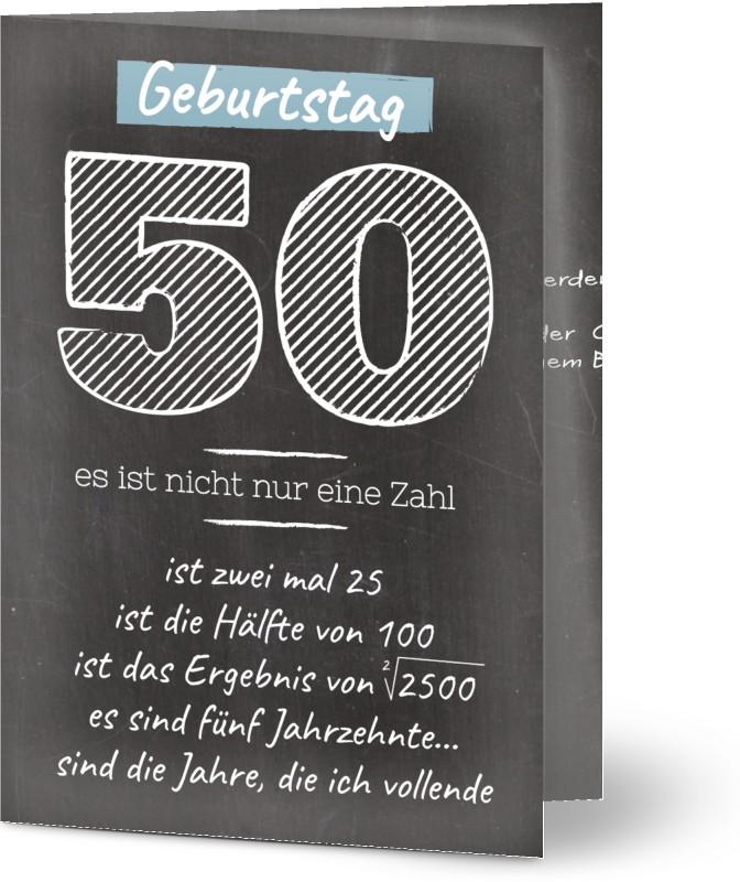 einladung geburtstag gestreifte schwarze tafel 50