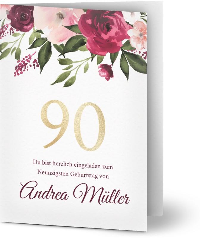 einladungskarten zum 90. geburtstag gestalten | optimalprint