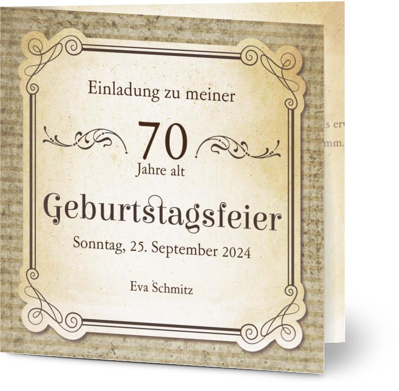 einladungskarten zum 70. geburtstag gestalten | optimalprint
